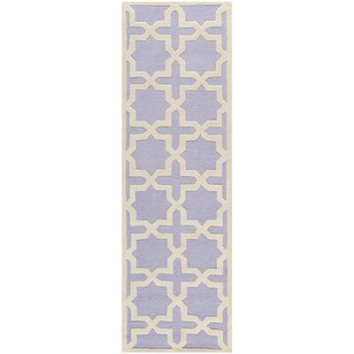 Harbin Lavender/Ivory Area Rug Rug Size: Runner 26 x 12