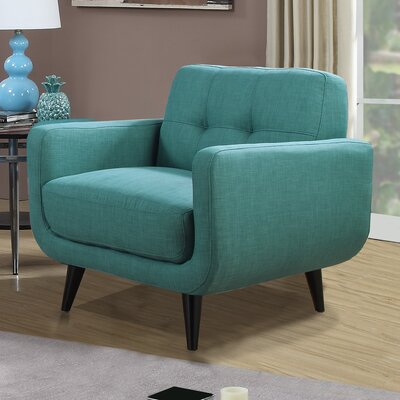 Higbee Armchair Color: Teal