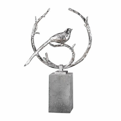 Silver Bird Figurine