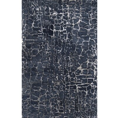 Kymani Hand-Tufted Navy Area Rug Rug Size: Rectangle 2 x 3