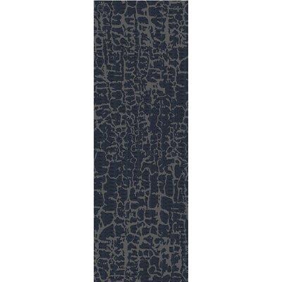 Kymani Hand-Tufted Navy Area Rug Rug Size: Runner 26 x 8