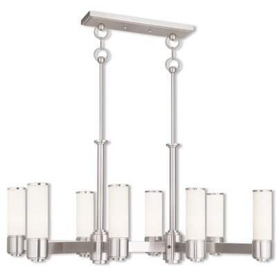 Kramer 8-Light Kitchen Island Pendant Finish: Brushed Nickel
