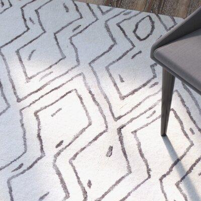 Brayden Studio Lucus Hand-Tufted White Area Rug