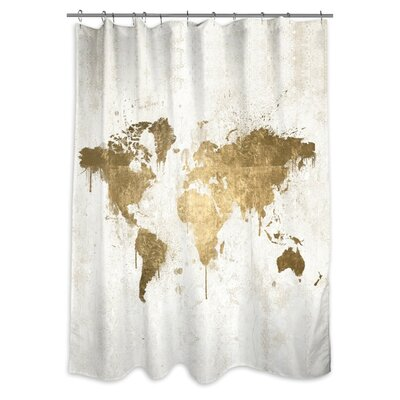 Mcnerney Mapamundi Shower Curtain