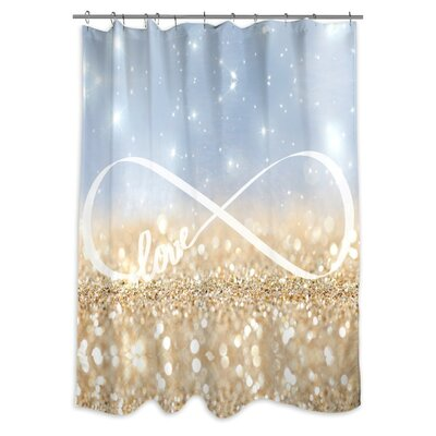 Narberth Infinite Love Sign Shower Curtain