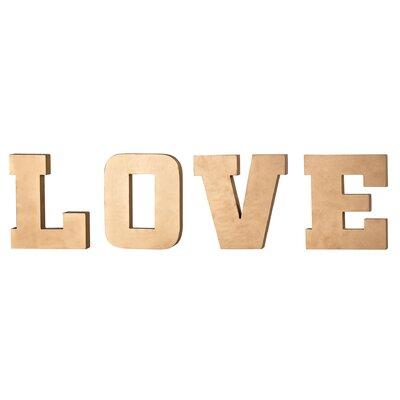 4 Piece Love Letter Block Set