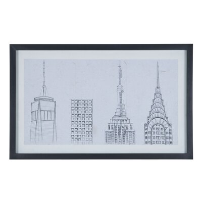 NYC 2K17 Framed Painting Print on Canvas
