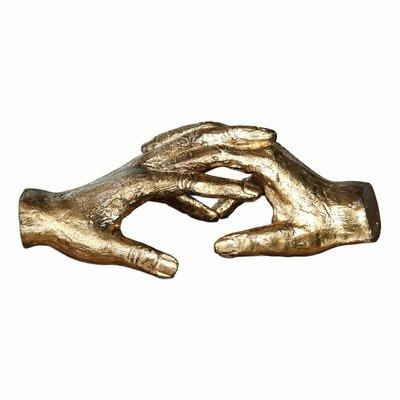 Brayden Studio Hold My Hand Metal Sculpture