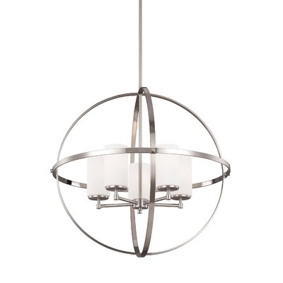 Morningside Drive 5-Light Globe Pendant Finish: Brushed Nickel