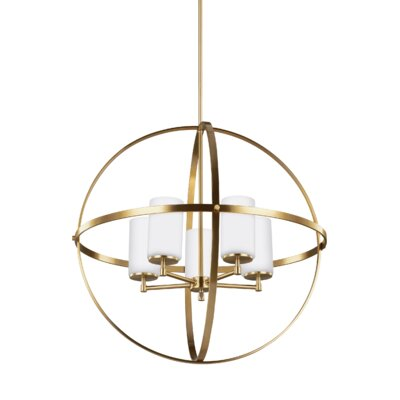 Haworth 5-Light Globe Pendant Finish: Satin Bronze