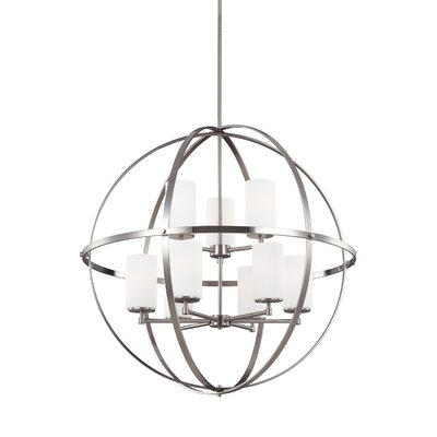 Haworth 9-Light Globe Pendant Finish: Brushed Nickel
