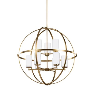 Haworth 9-Light Globe Pendant Finish: Satin Bronze