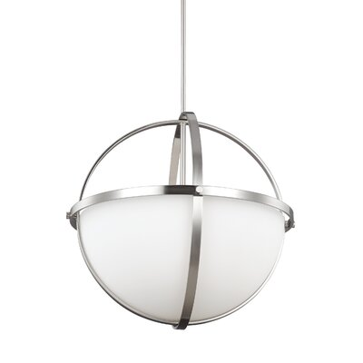 Haworth 3-Light Globe Pendant Finish: Brushed Nickel