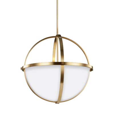 Haworth 3-Light Globe Pendant Finish: Satin Bronze