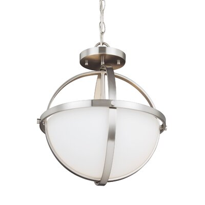 Haworth 2-Light Globe Pendant Finish: Brushed Nickel