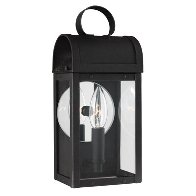 Orpheus 1-Light Outdoor Wall Lantern Finish: Black