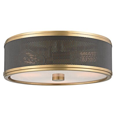 Orrstown 3-Light Semi Flush Mount Finish: Aged Brass