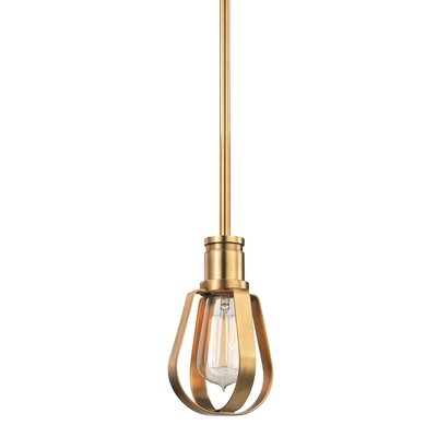 Salia 1-Light Mini Pendant Finish: Aged Brass