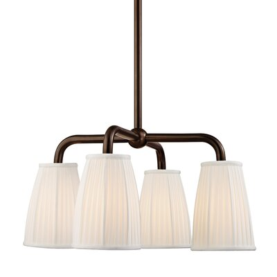 Rocco 4-Light Shaded Chandelier Finish: Distressed Bronze