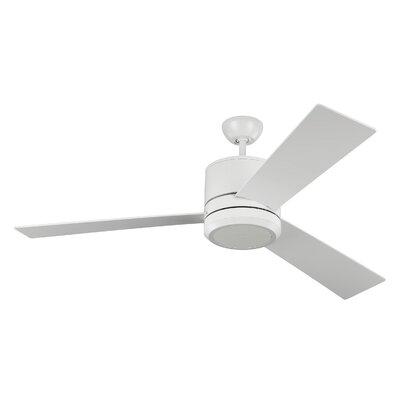 56 Ossu 3 Blade LED Ceiling Fan Motor Finish: Rubberized White