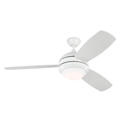 52 Lamptrai 3-Blade Ceiling Fan with Remote Motor Finish: Rubberized White