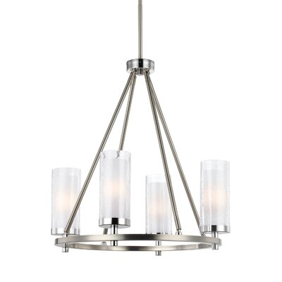 Mikolas 4-Light Shaded Chandelier