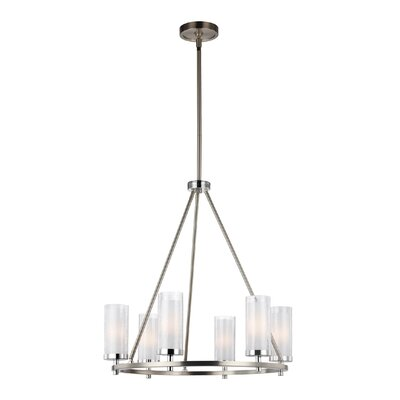 Mikolas 6-Light Shaded Chandelier