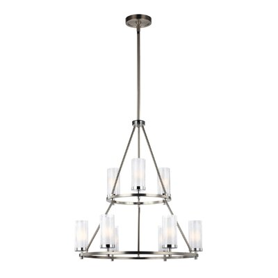 Mikolas 9-Light Shaded Chandelier