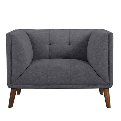 Kronos Mid-Century Armchair Color: Dark Gray