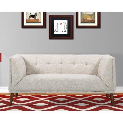 Kronos Mid-Century Loveseat Upholstery: Beige