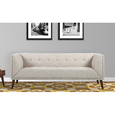 Kronos Mid-Century Chesterfield Sofa Upholstery: Beige