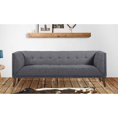 Kronos Mid-Century Sofa Upholstery: Dark Gray