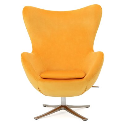 Korinna Swivel Lounge Chair Upholstery: Orange