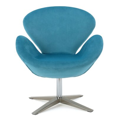 Ospina Swivel Armchair Upholstery: Blue