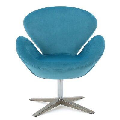 Khronos Swivel Arm Chair Upholstery Color: Blue