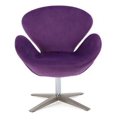 Khronos Swivel Arm Chair Upholstery Color: Eggplant