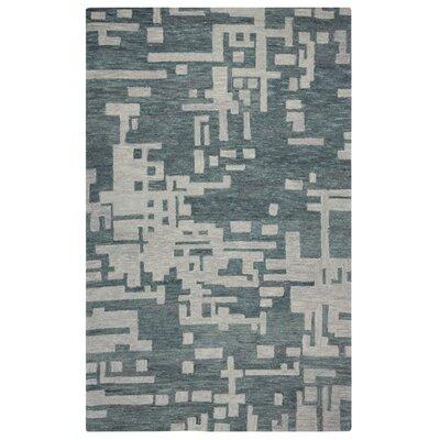Brayden Studio Morpheus Hand-Tufted Gray/Off White Area Rug