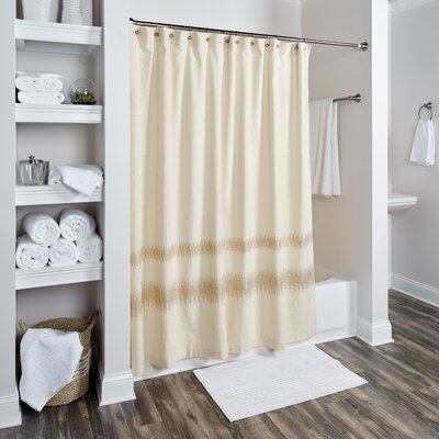 Orcus Cotton Shower Curtain Color: Cream
