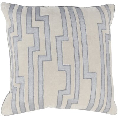 Naudain Throw Pillow Cover Size: 18 H x 18 W x 0.25 D, Color: BlueNeutral