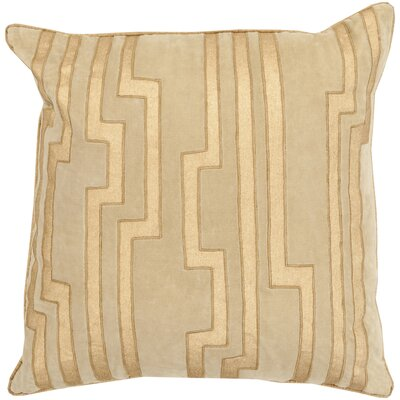 Naudain Throw Pillow Cover Size: 18 H x 18 W x 0.25 D, Color: KhakiGold