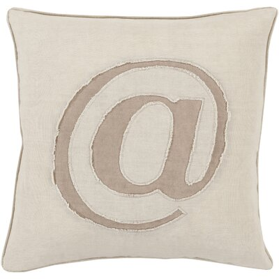 Octans Linen Text 100% Linen Throw Pillow Cover Size: 18 H x 18 W x 0.25 D, Color: Neutral