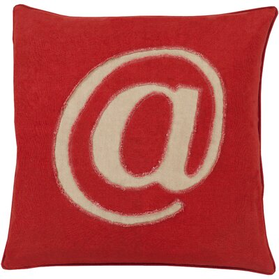 Octans Linen Text 100% Linen Throw Pillow Cover Size: 18 H x 18 W x 0.25 D, Color: RedBrown