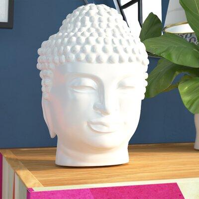 Brayden Studio Ceramic Buddha Head Bust