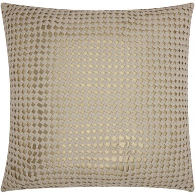 Nevius Woven Metallic Throw Pillow Color: White Gold