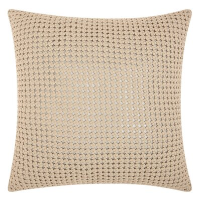 Nevius Woven Metallic Throw Pillow Color: White/Silver