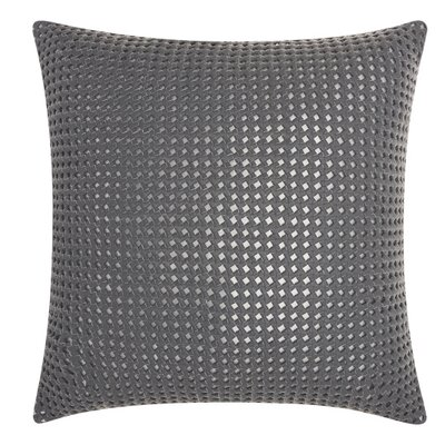 Nevius Leather Throw Pillow Color: Gray/Silver