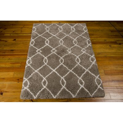 North Moore Hand-Tufted Mocha/Ivory Area Rug Rug Size: Rectangle 5' x 7'