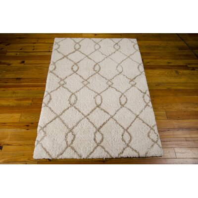 North Moore Hand-Tufted Ivory/Tan Area Rug Rug Size: Rectangle 7'6