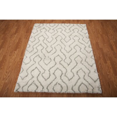 North Moore Hand-Tufted Ivory/Sage Area Rug Rug Size: Rectangle 5 x 7