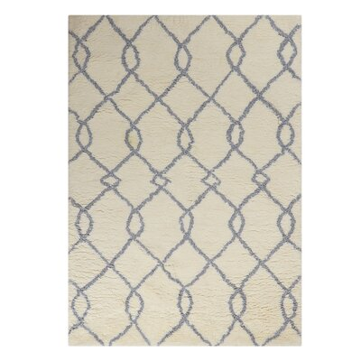 North Moore Hand-Tufted Ivory/Gray Area Rug Rug Size: Rectangle 76 x 96